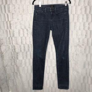 VINCE Dark Vintage Skinny Blue Jeans